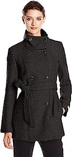 Calvin Klein 卡尔文·克莱恩 女式 带腰带双排扣羊毛大衣