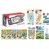 Nintendo 任天堂 Switch Lite 灰色+烟雾 动物森林 -Switch+动物森林amiibo卡各1包+a…