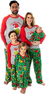Dr. Seuss The Grinch Who Stole 圣诞配套家庭睡衣套装 适合男士、女士、儿童和幼儿
