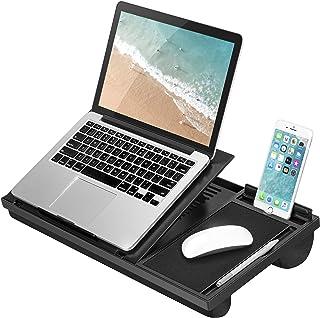 LapGear Ergo Pro 笔记本电脑支架 – 20 个可调节角度、鼠标垫和手机支架 – 黑色 – 适合 15.6 英寸的笔记本电脑和大多数平板电脑 – 款式编号 49408