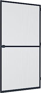 Windhager 防昆虫保护框架门 Plus,飞蚊格栅铝框,可个性化缩短,100 x 210 厘米,煤黑色,03709