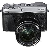 Fujifilm 富士 X-E3 无反光数码相机 w/XF18-55 毫米镜头套件 - 银色