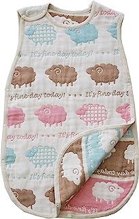 SANDESICA 桑特鹿 柔软6层纱布睡袋 M 尺寸(新生儿~3岁左右) [対象] 0ヶ月 ~ ひつじ(NEW)