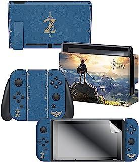 Controller Gear 任天堂切换皮肤和屏幕保护膜套装,任天堂官方* - 塞尔达传说 - 任天堂切换; The Legend of Zelda 蓝色