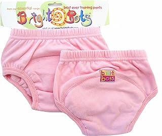 Bright Bots 如厕训练裤 2 件装(淡粉色,大号,约 2 岁)