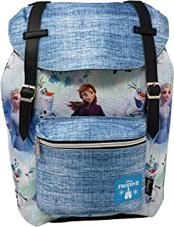 Limited Disney 冰雪奇缘 2 全身图案学院风复古风格书包 16 英寸(约 40.6 厘米)