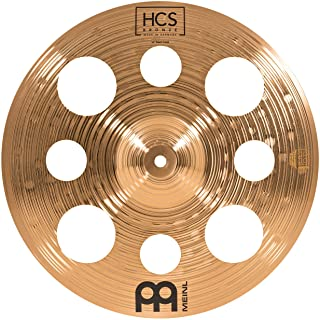 Meinl Cymbals 14 英寸垃圾桶带孔 – HCS 传统抛光青铜鼓套装,德国制造,2 年保修(HSB14TRC)