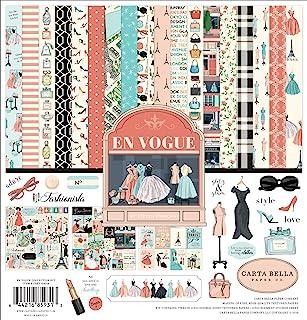 Carta Bella Paper Company En Vogue 系列纸,粉色,*,青*,黑色