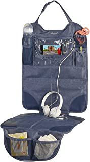 Lulyboo 自动座椅保护罩,带存储和防水平板电脑窗口 - 牛仔布