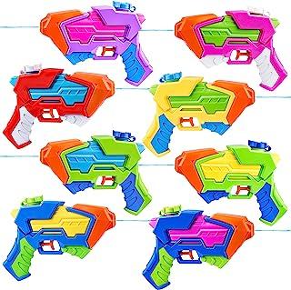 8 件装 Aqua Phaser 各种水枪 8 种颜色水枪 喷水枪 喷水枪 儿童夏季泳池沙滩 户外水上活动格斗玩具