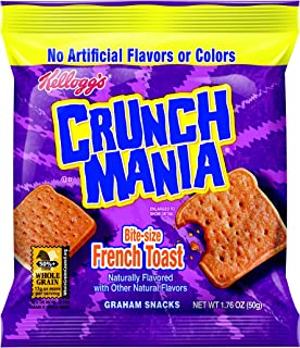 Kellogg's Cinnamania Bite Size French Toast, 1.76-Ounce Bags (Pack of 100)