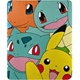 "Pokémon精灵宝可梦 ""Meet the Group"" 羊毛毛毯 45 英寸 x 60 英寸(约 114.3 厘米…"