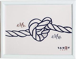 Fancy Tray 家庭笔记本电脑桌 软垫托盘 适用于膝上符合人体工学的食物 多用途桌面 工作底座 43 x 33 x 1.5 厘米 优质材质 木质 设计 Mr & Mrs.