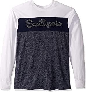 Southpole 男式长袖雪尼尔T恤
