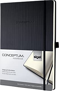 Sigel CONCEPTUM 精裝筆記本 ca. A4 / dotted 黑色