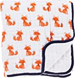Hudson Baby Four Layer Muslin Tranquility Blanket Foxes One…