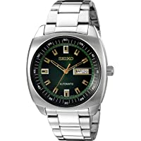 Seiko 精工 SNKM97 男式模拟自动手表 不锈钢表链