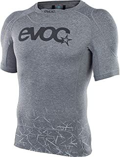 EVOC ENDURO SHIRT 防护衣,适用于耐力旅行和运动运动运动(尺码:S, M, L, XL, 可拆卸肩部保护器,防滑硅胶结构,气味抑制),碳灰色