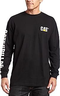 Caterpillar Men's Big & Tall Trademark Banner Long Sleeve Tee