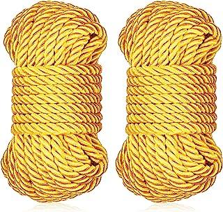 编织绞花丝绳直径 8 毫米柔软实心编织扭绳装饰扭曲缎面光泽绳索,适用于各种用途和 DIY 工艺