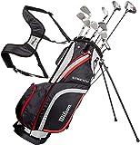 Wilson 男式弹力 golf CLUB 10-club 套装带支架包