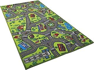 儿童地毯游戏垫地毯城市生活非常适合与汽车和玩具一起玩耍 - 玩耍、学习和玩耍* - 儿童婴儿、儿童教育道路交通游戏垫,卧室游戏室*区