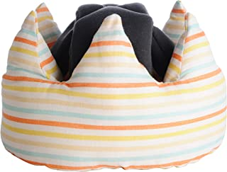 angerolux 省心* Crown 皇冠造型 Baby 婴儿爬行头盔 イエローボーダー (約) 13×25×高さ16cm