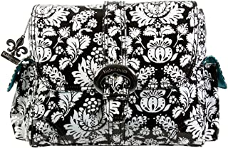 Kalencom Midi Coated Diaper Buckle Bag, Toile Black/White