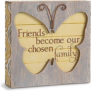 Pavilion Gift Company Simple Spirits 41085 Friend Butterfly Plaque,11.43 cm