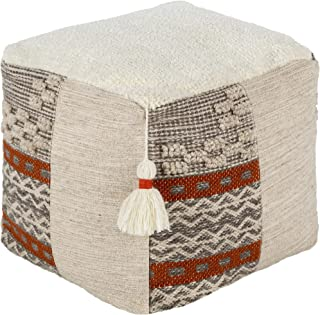 Artistic Weavers Iframm Global Pouf, H W x 45.72cm D,奶油色,45.72cm 高 x 45.72cm 宽 x 45.72cm 深
