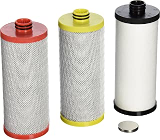 Aquasana AQ-5300R 3阶水槽下水过滤器更换滤芯,红色,黄色/黑色