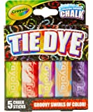 Crayola 特殊效果侧行走粉笔 - 扎染(5 支粉笔棒) Crayola Sidewalk 粉笔适合外出儿童;Sid…