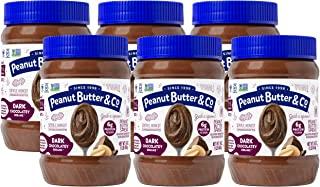 Peanut Butter & Co. 黑巧克力梦花生酱,不含麸质,素食主义者,16盎司(454g)6瓶装