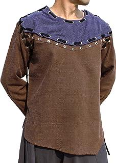 Svenine 套装文艺复兴时期节日中世纪 Swashbuckler Rogue 索环衬衫