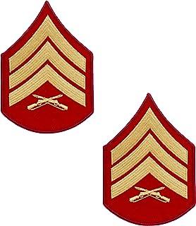 USMC Gold on Red V 形图案,中尉