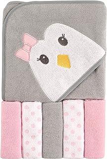 Luvable Friends 带帽浴巾和 5 条毛巾 企鹅 均码