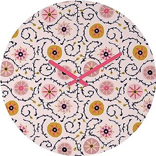 Deny Designs Holli Zollinger Suzani 粉色圆形时钟