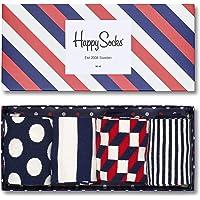 快樂襪男式精梳棉襪禮盒裝,4件裝