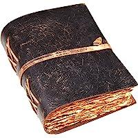 复古皮革杂志 - 皮革杂志 - 复古杂志 - 影子书 - 拼写书 - 皮革装订杂志 - 复古甲板边缘手工纸 - 8 X…