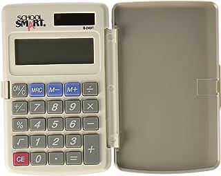 School Smart 8 位 LCD 双电源口袋计算器,2-7/8 x 3/8 x 4-5/8 英寸