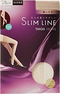 ATSUGI 厚木 长筒袜 SLIM LINE系列 大腿长度宽松 长筒袜 (3双装)