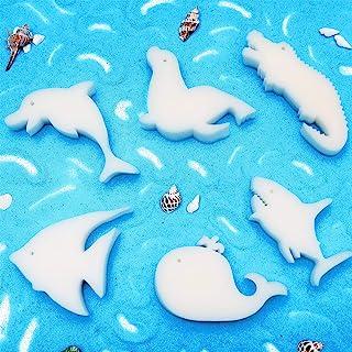 Honoson 24 件吸油海绵去除剂 浮动海绵 可爱形状清洁配件 适用于游泳池和热水浴缸 Devours Scum Slime 清洁用品(生动风格)