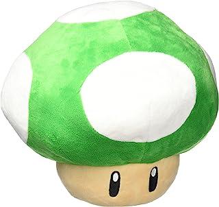 Little Buddy 美国*马里奥系列 11 英寸大型 1 英寸绿色蘑菇枕头毛绒玩具