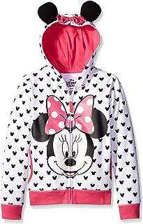 Disney迪士尼 女童米妮連帽衫帶蝴蝶結和耳朵