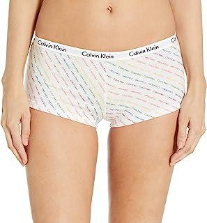 Calvin Klein 卡尔文·克莱恩 女式 Carousel 标志棉质平角内裤 彩色条纹 M 码