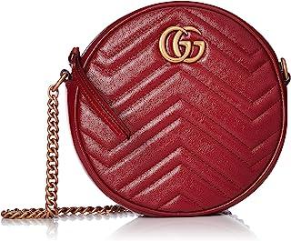 GUCCI 古驰 单肩包 GG MARMONT 绗缝皮革 GG标志