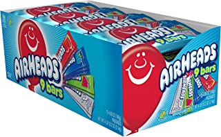 AirHeads 各式糖果包装,9个独立包装什锦水果棒,派对,74.25盎司(2101.275克)