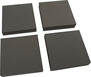 XCEL 重型设备垫,防震防滑家具垫,10.16 厘米 x 10.16 厘米 x 1.91 厘米厚(4 件套)