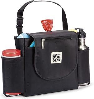 Mobile Dog Gear,汽车座椅背部收纳袋旅行包,包含内置垃圾袋分配器和 1 卷袋,黑色