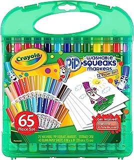 Crayola 绘儿乐 Pip Squeaks 可洗标记套装,供男孩和女孩使用的填充物,适合年龄4、5、6、7